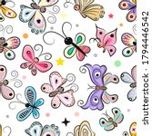 seamless pattern with cute...   Shutterstock .eps vector #1794446542