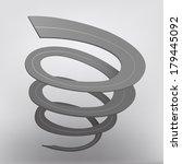 the illustration of grey spiral ...   Shutterstock .eps vector #179445092