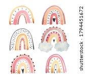 watercolor rainbow illustration ... | Shutterstock .eps vector #1794451672