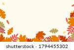 autumn leaves background.... | Shutterstock .eps vector #1794455302
