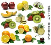 fruit sampler with clipping path | Shutterstock . vector #17944588