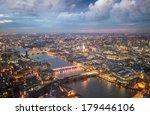 london night skyline aerial... | Shutterstock . vector #179446106