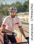 Walk  Thoughts. Male Cyclist I...