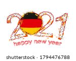 happy new 2021 year with flag... | Shutterstock .eps vector #1794476788