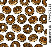 donut background. collection... | Shutterstock .eps vector #1794478258