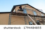 Installation Of Siding On The...