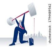 weightlifter. businessman... | Shutterstock .eps vector #1794489562