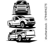 pick up truck logo design vector | Shutterstock .eps vector #1794494275