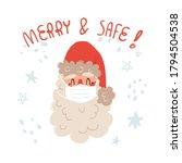 cute hand drawn santa claus in... | Shutterstock .eps vector #1794504538