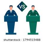 battle of team leaders  fight...   Shutterstock .eps vector #1794515488