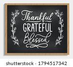 thankful grateful blessed... | Shutterstock .eps vector #1794517342