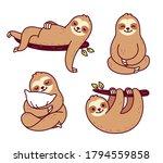 cute cartoon sloth character... | Shutterstock . vector #1794559858
