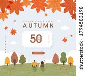 autumn shopping event... | Shutterstock .eps vector #1794583198
