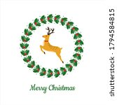 colorful christmas card with... | Shutterstock .eps vector #1794584815