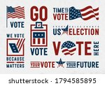 usa election motivation... | Shutterstock .eps vector #1794585895