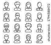 user icons set on white... | Shutterstock .eps vector #1794588472
