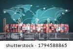 business logistics concept ...   Shutterstock . vector #1794588865
