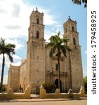 cathedral church mexico merida | Shutterstock . vector #179458925