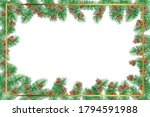 square frame made of fir forest ... | Shutterstock .eps vector #1794591988