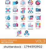 market research icons including ... | Shutterstock .eps vector #1794593902