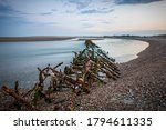 Old Rusty Steel Defences At...