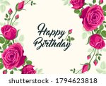Happy Birthday Greeting. Vector ...