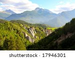 a mountain landscape in valle d'... | Shutterstock . vector #17946301