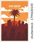 San Diego Retro Poster. San...