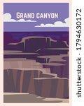 Grand Canyon Retro Poster. ...