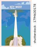 key west retro poster. key west ...   Shutterstock .eps vector #1794630178