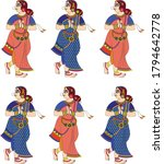 women from royal families drawn ... | Shutterstock .eps vector #1794642778
