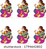 women from royal families drawn ... | Shutterstock .eps vector #1794642802