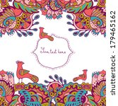 invitation card with abstract... | Shutterstock .eps vector #179465162