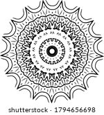 mandala. black and white... | Shutterstock .eps vector #1794656698