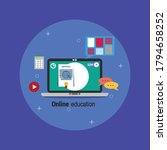 online education with... | Shutterstock .eps vector #1794658252