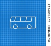 blue banner with bus icon.... | Shutterstock .eps vector #1794659815