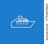 blue banner with boat icon.... | Shutterstock .eps vector #1794659842