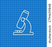 blue banner with microscope... | Shutterstock .eps vector #1794659848