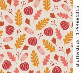autumn seamless pattern with... | Shutterstock .eps vector #1794661315