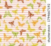 flying trendy butterfly... | Shutterstock .eps vector #1794667192