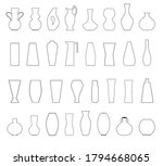 a set of different vases ... | Shutterstock .eps vector #1794668065