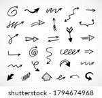 vector set of hand drawn arrows | Shutterstock .eps vector #1794674968