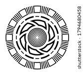 abstract circular ornament.... | Shutterstock .eps vector #1794680458