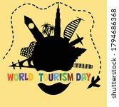 illustration of world tourism... | Shutterstock .eps vector #1794686368
