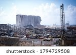 Destroyed Buildings And The...