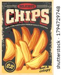 Chips Vintage Poster Image With ...