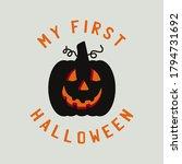 vintage halloween typography... | Shutterstock .eps vector #1794731692