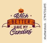 vintage halloween typography... | Shutterstock .eps vector #1794731695