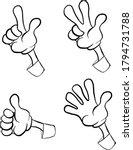 set of cartoon hands showing... | Shutterstock .eps vector #1794731788