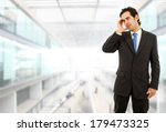 businessman gestures with a... | Shutterstock . vector #179473325
